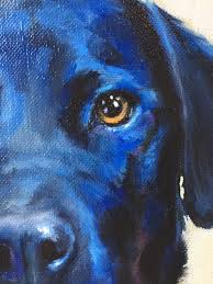 close up of dog portrait painting dog face