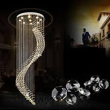 modern led crystal ceiling pendant lights indoor chandeliers home hanging lighting chandelier lamps fixtures 3w warm