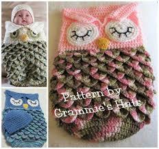 Baby Owl Cocoon Crochet Pattern