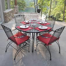 seat cushions for outdoor metal chairs. kitchen design : amazing wrought iron chair cushions outdoor furniture round black table with four using arm and carved back having red stainless or seat for metal chairs e
