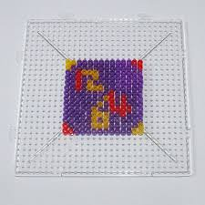 Square Round Hexagon <b>Beads</b> Plastic Pegboard for <b>Beads Puzzle</b> ...