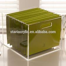 File holder box Hanging Portable Acrylic File Hanging Storage Box Desk Organizer 85quotx11quot Alibaba Portable Acrylic File Hanging Storage Box Desk Organizer 85