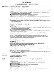 Customer Service Trainer Resume Samples Velvet Jobs