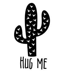 Velours Strijkapplicatie Cactus Hug Me