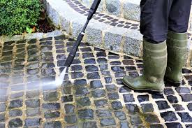 clean a patio with a pressure washer