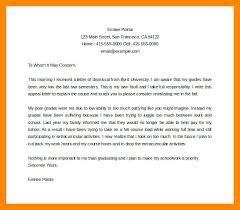 Letter Of Appeal Sample Template