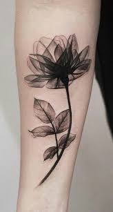 Beautiful Black Magnolia Arm Tattoo Ideas For Women Watercolor