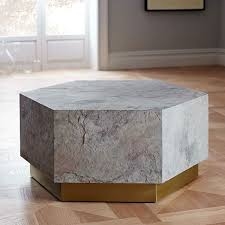 geo hex coffee table Стол Камни