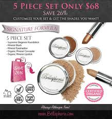 bellaphoria organic mineral makeup canada 100 pure natural mineral makeup cosmetics made in canada