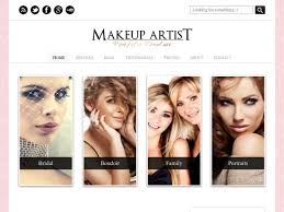 makeup artist websites templates wordpress website templates beauty popteenus com