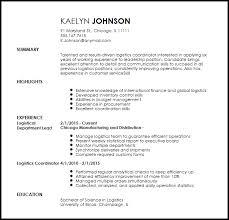 Free Creative Logistics Coordinator Resume Template Resume Now