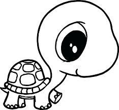 Cute Turtle Coloring Pages Coloring Pages Cute Sea Baby Turtle Page