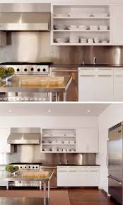 Stainless Steel Backsplash Kitchen Kitchen Design Idea Install A Stainless Steel Backsplash For A