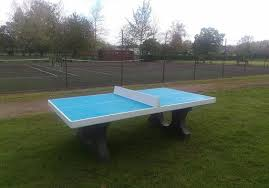 concrete ping pong table. Blue Table Tennis Concrete Ping Pong