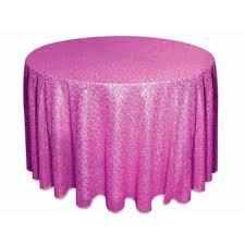 108inch round sequin tablecloth fushia