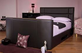 tv bed with storage.  Bed Sweet Dreams Haydn Faux Leather TV Bed With Storage Intended Tv With The Station