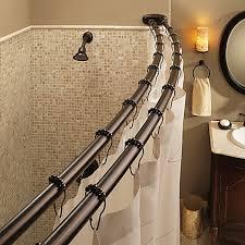 curved shower curtain rod for corner shower