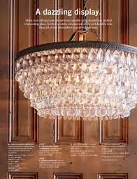 gemma crystal round chandelier pottery barn dining table