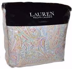 ralph lauren cayden paisley 3pc king comforter set nwt cotton 330