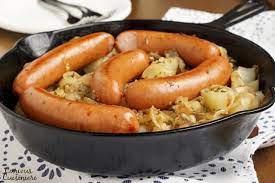 polish sausage and sauer hash