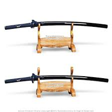 Sword Display Stands 100 Tier Solid Wood Samurai Sword Display Stand Natural Finished 65