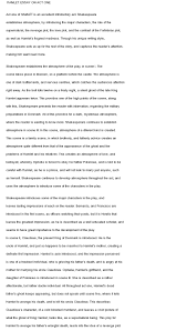 shakespeare essays analysis and interpretation of william  essay on hamletexcessum essay on hamlet tk