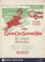 the good old summer time 1903 al sheet cover stock image