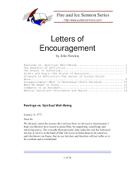 Encouragement Letter Template sample letters of 1