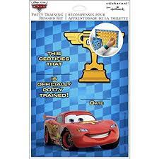 Amazon Com Disney Cars Potty Training Chart Reward Kit 1