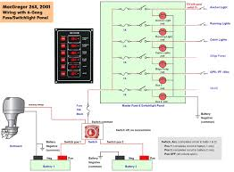 marine wiring diagram carlplant how to wire a boat switch panel at Small Boat Wiring Guide