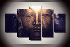I love this piece of buddha home décor as it is relaxing, cute, and trendy. 5 Panel Canvas Wall Art Buddha Way Great Product Buys