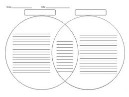 A Blank Venn Diagram Blank Venn Diagram By Leslie Kudrna Teachers Pay Teachers