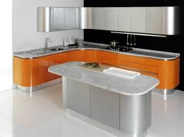 Modern L Shaped Small Kitchen Design With Island