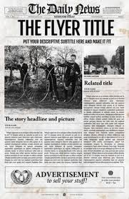 Newspaper Template Illustrator Photoshop Newspaper Template Newspaper Photoshop And