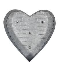 galvanized metal led heart wall décor