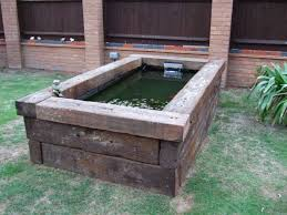 Small Picture 26 Best Images of Garden Pond Ideas With Sleepers Garden Fish