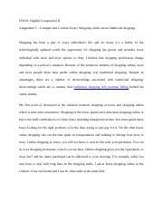 assignment    process analysis essay english comp ii docx   en      pages assignment    compare and contrast essay english comp ii docx