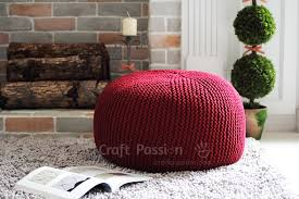 How To Knit A Pouf For Beginners