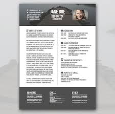Visual Resume Templates Free Free Visual Resume Templates Best
