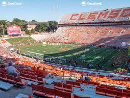 Clemson Memorial Stadium Seating Chart Map Seatgeek