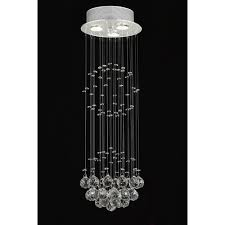 gallery indoor 3 light chrome crystal ball chandelier by gallery