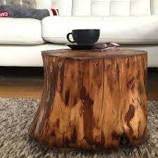 stump side table log tables coffee tree trunk wood block furniture canada