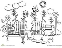 Or each afternoon after a busy lunchtime! Garden Coloring Pages Printables Education Com