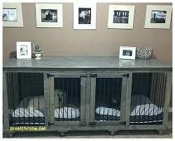 wooden dog crate furniture. Furniture Dog Crate End Table Wooden .