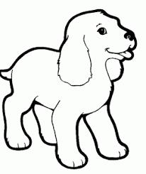 Kleurplaat Hond Schattige Dieren