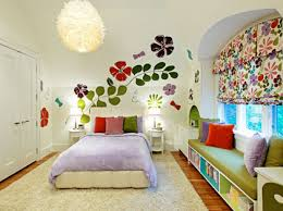 bedroom wall decor for teenagers. Colorful Flowers Wall Stickers Murals For Teenage Girls Bedroom Decorating Design Ideas Decor Teenagers C