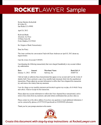 letter of despute dispute fraudulent bank transaction letter with sample