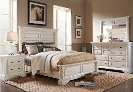 Shop for a Claymore Park Off-White 8 Pc King Panel Bedroom at Rooms ...