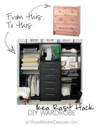 ikea rast hack to diy wardrobe