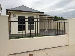 Modern Iron Fence Designs Outdoor Design Simple Modern Home With Black Iron Fence